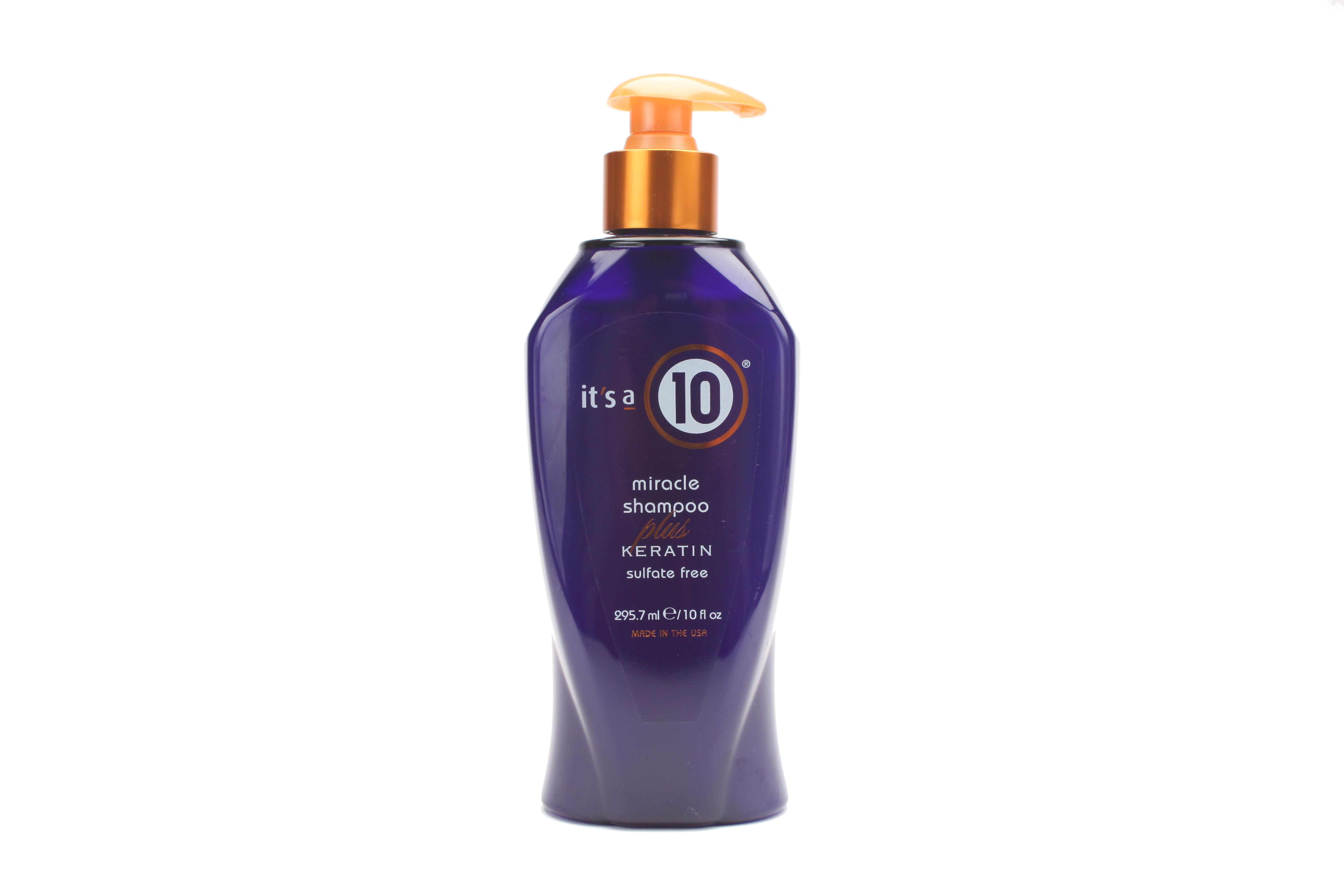 58558 Shampoo Plus Keratin 10 oz Front