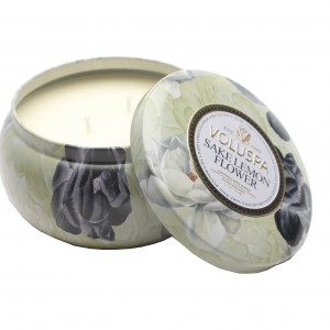 63489 Sake Lemon Flower 2 Wick 11 oz